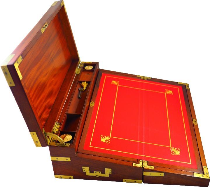 Antigüedades: Excepcional Escritorio triple apertura Época Regencia. Circa 1810 - Foto 4 - 53189868