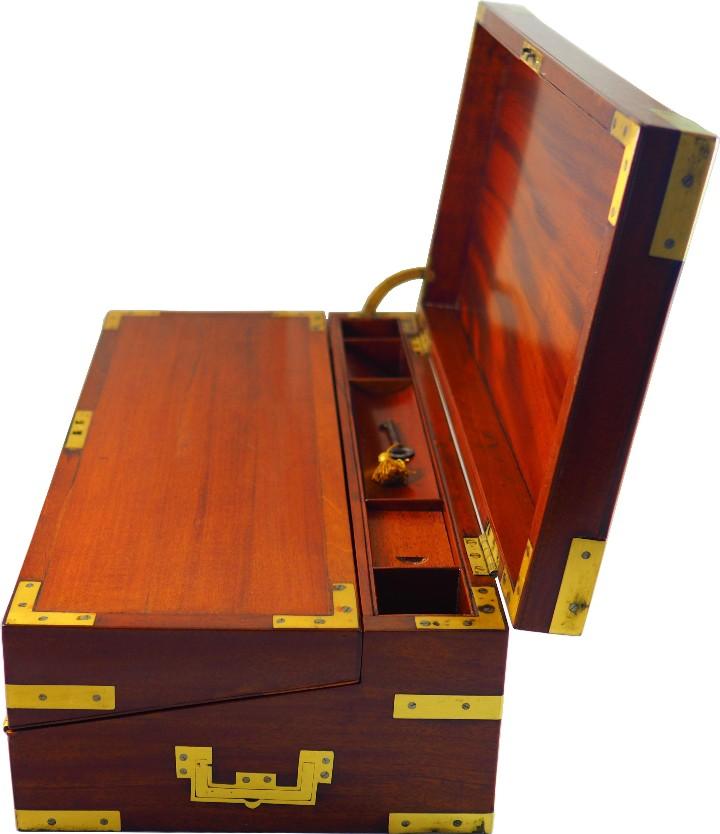 Antigüedades: Excepcional Escritorio triple apertura Época Regencia. Circa 1810 - Foto 5 - 53189868
