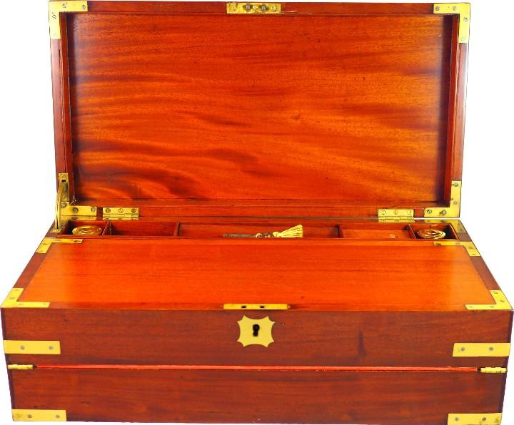 Antigüedades: Excepcional Escritorio triple apertura Época Regencia. Circa 1810 - Foto 6 - 53189868