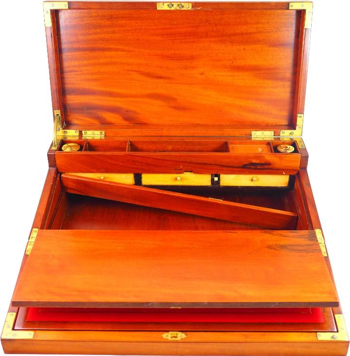 Antigüedades: Excepcional Escritorio triple apertura Época Regencia. Circa 1810 - Foto 8 - 53189868