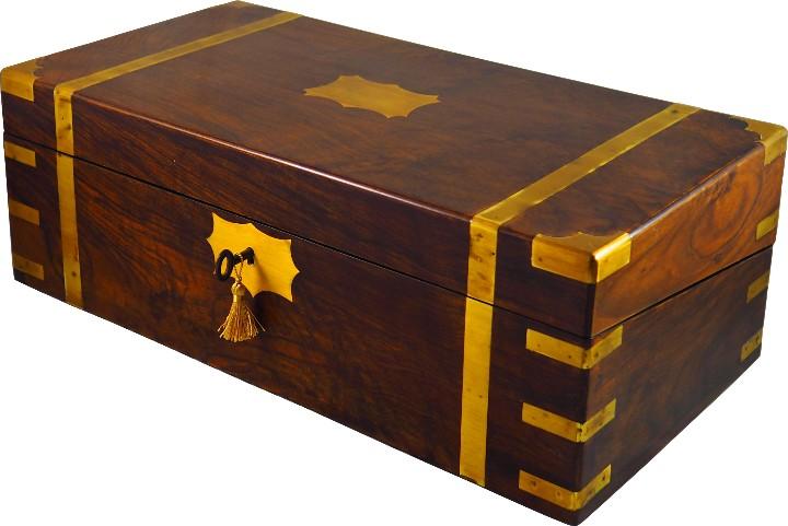 ESCRITORIO DE CAMPAÑA INGLÉS S.XIX (Antigüedades - Muebles Antiguos - Escritorios Antiguos)