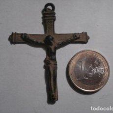 Antigüedades: PRECIOSA Y RARA CRUZ CRUCIFIJO COBRE SIGLO XVI - PIEZA UNICA - TENGO MAS EN VENTA. Lote 109413691