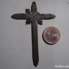 Antigüedades: IMPRESIONANTE Y RARA CRUZ CRUCIFIJO PLATA SIGLO XVII - PIEZA UNICA - TENGO MAS EN VENTA. Lote 109413843
