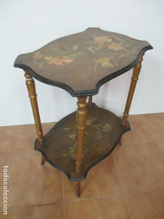 Antigua mesa de centro auxiliar mesita moder comprar for Mesas de centro antiguas