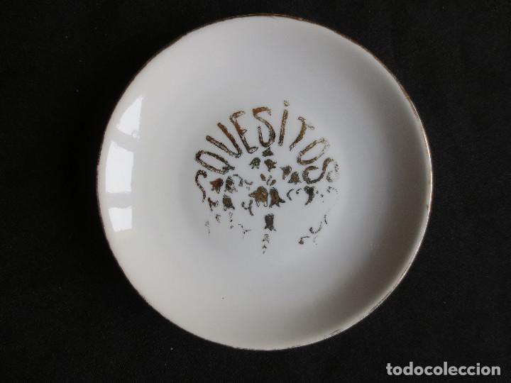 Antigüedades: ANTIGUO CONJUNTO DE CINCO PLATOS DE APERITIVOS - Foto 4 - 109441591