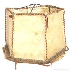 Antigüedades: PANTALLA PARA LÁMPARA. METAL Y PIEL. PERGAMINO. CIRCA 1950. . Lote 150731381