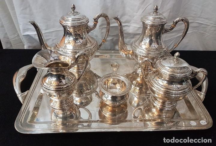 JUEGO DE CAFE Y TE EN PLATA (Antigüedades - Platería - Plata de Ley Antigua)
