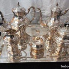 Antigüedades: JUEGO DE CAFE Y TE EN PLATA. Lote 109447851