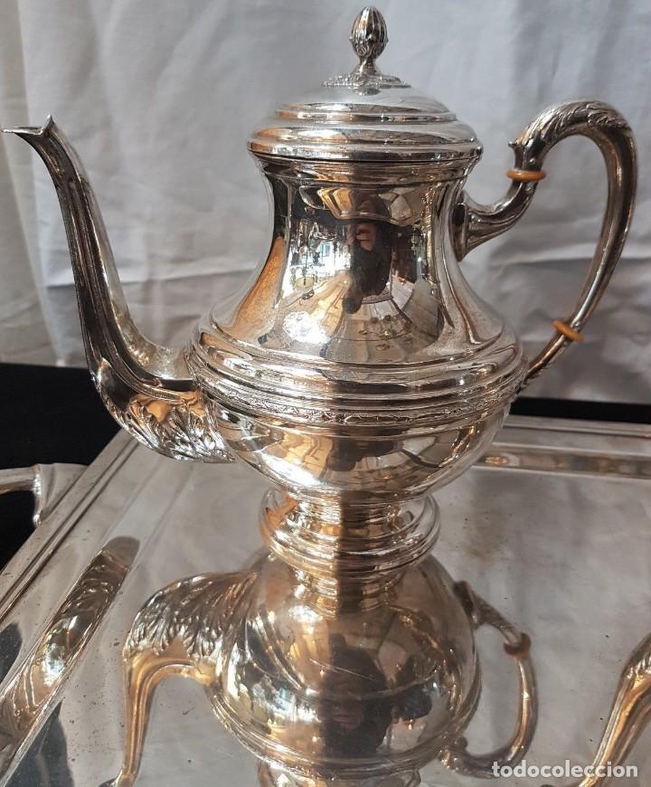 Antigüedades: Juego de cafe y te en plata - Foto 4 - 109447851