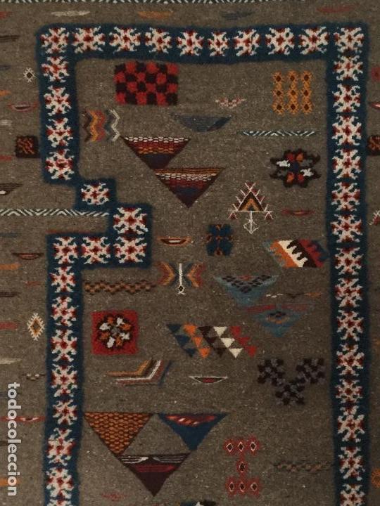Antigüedades: Antiguo Tapiz de lana beréber - Foto 3 - 109451635