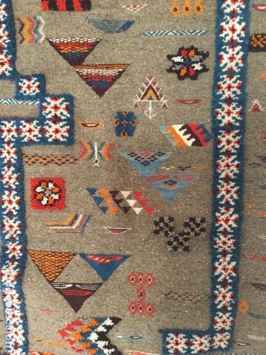 Antigüedades: Antiguo Tapiz de lana beréber - Foto 7 - 109451635