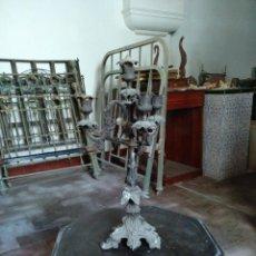 Antigüedades: CANDELABRO 4 LUCES DE CALAMINA.ALTURA 48 CM. Lote 109464019
