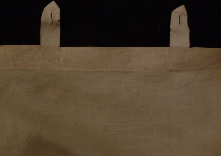 Antigüedades: ANTIGUO VISILLO DE ENCAJE SOBRE LINO PPIO. S. XX - Foto 6 - 104653963