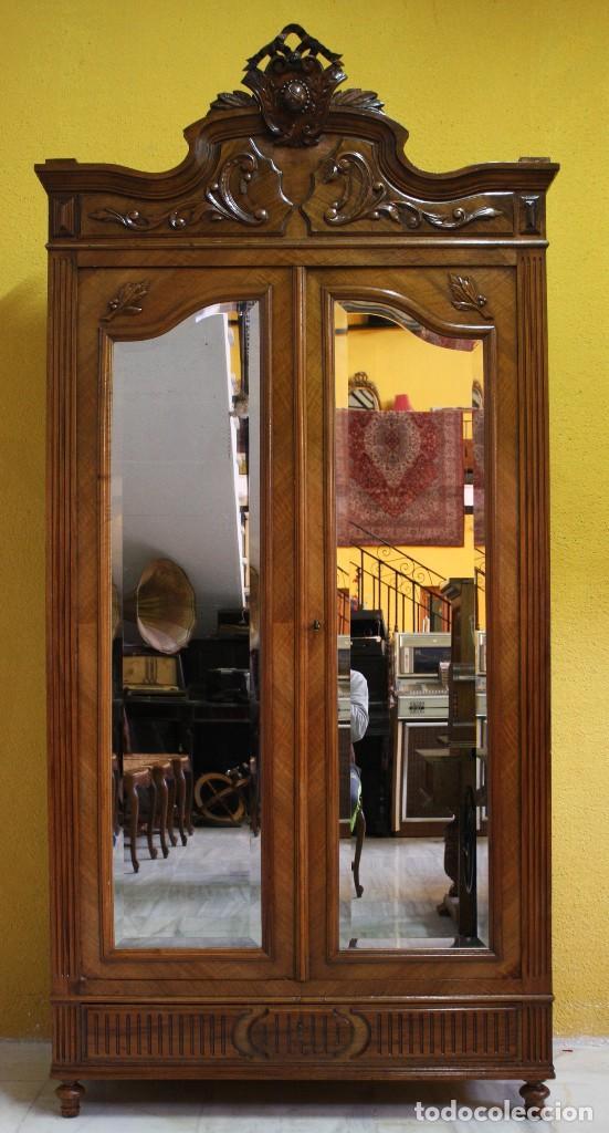 ARMARIO EN NOGAL.REF:6175 (Antigüedades - Muebles Antiguos - Armarios Antiguos)