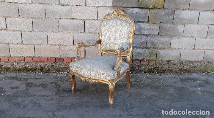 Antigüedades: Tresillo antiguo estilo Luis XV sofá antiguo + 2 sillones antiguos + 4 sillas antiguas retro vintage - Foto 16 - 109497279