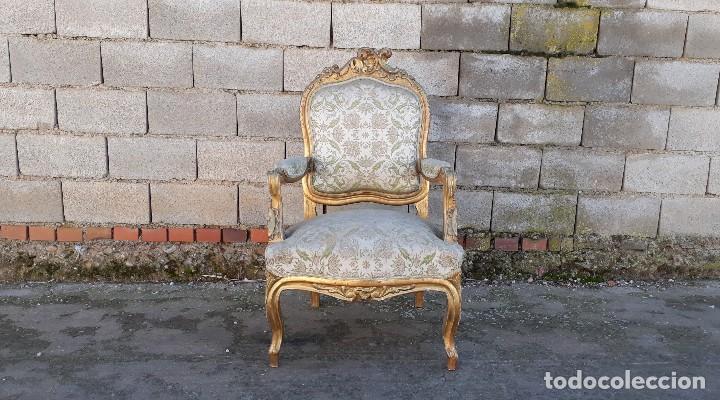 Antigüedades: Tresillo antiguo estilo Luis XV sofá antiguo + 2 sillones antiguos + 4 sillas antiguas retro vintage - Foto 17 - 109497279