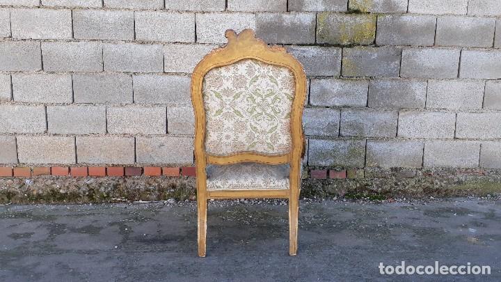 Antigüedades: Tresillo antiguo estilo Luis XV sofá antiguo + 2 sillones antiguos + 4 sillas antiguas retro vintage - Foto 20 - 109497279