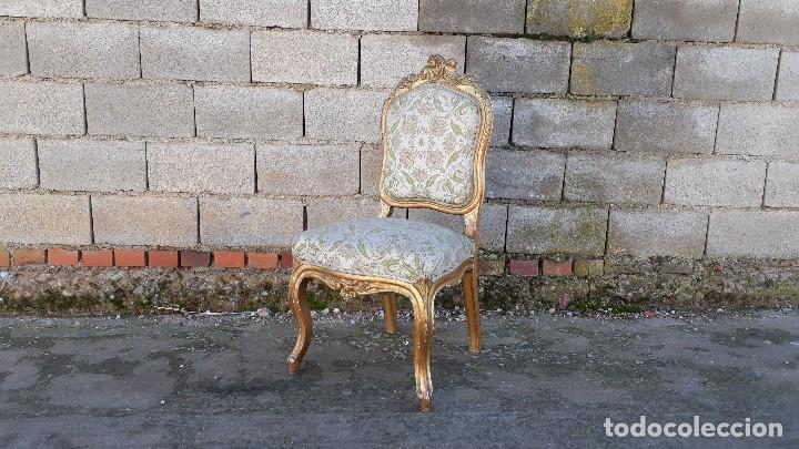 Antigüedades: Tresillo antiguo estilo Luis XV sofá antiguo + 2 sillones antiguos + 4 sillas antiguas retro vintage - Foto 25 - 109497279