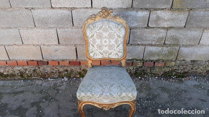 Antigüedades: Tresillo antiguo estilo Luis XV sofá antiguo + 2 sillones antiguos + 4 sillas antiguas retro vintage - Foto 27 - 109497279