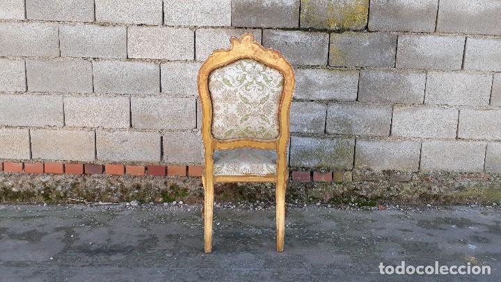 Antigüedades: Tresillo antiguo estilo Luis XV sofá antiguo + 2 sillones antiguos + 4 sillas antiguas retro vintage - Foto 31 - 109497279