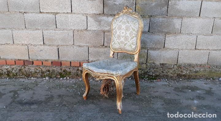 Antigüedades: Tresillo antiguo estilo Luis XV sofá antiguo + 2 sillones antiguos + 4 sillas antiguas retro vintage - Foto 32 - 109497279