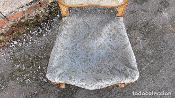 Antigüedades: Tresillo antiguo estilo Luis XV sofá antiguo + 2 sillones antiguos + 4 sillas antiguas retro vintage - Foto 34 - 109497279