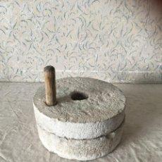 Antigüedades: PIEDRAS PRENSA MOLINO. Lote 109499895