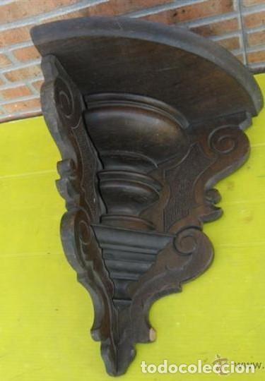 MÉNSULA DE ESQUINA DE MADERA (Antigüedades - Muebles Antiguos - Ménsulas Antiguas)