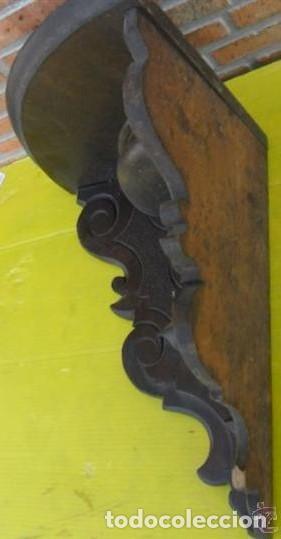 Antigüedades: MÉNSULA DE ESQUINA DE MADERA - Foto 2 - 109512723