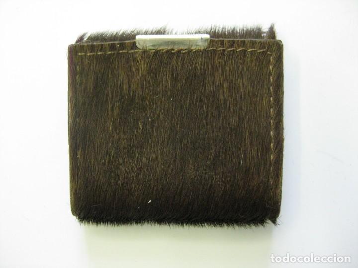 BILLETERO, PORTA DOCUMENTOS PIEL CABRA 6 X 6 CMS (Antigüedades - Moda y Complementos - Mujer)