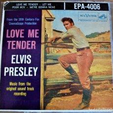 Discos de vinilo: ELVIS PRESLEY - LOVE ME TENDER - EPA-4006 - 1ªEDICIÓN USA 1956 . Lote 109546511