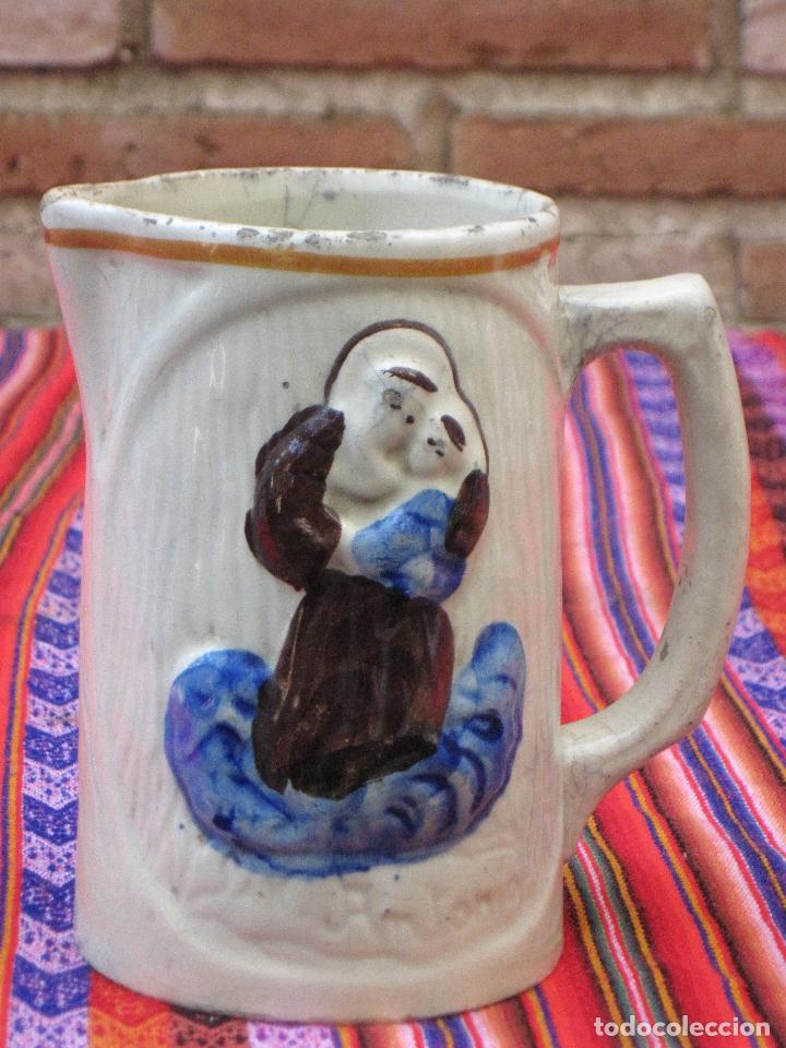 JARRA ANTIGUA EN CERAMICA DE MANISES - SAN ANTONIO. (Antigüedades - Porcelanas y Cerámicas - Manises)