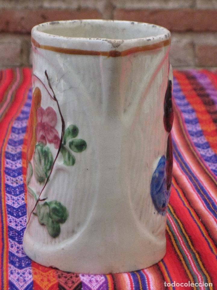 Antigüedades: JARRA ANTIGUA EN CERAMICA DE MANISES - SAN ANTONIO. - Foto 2 - 109551911