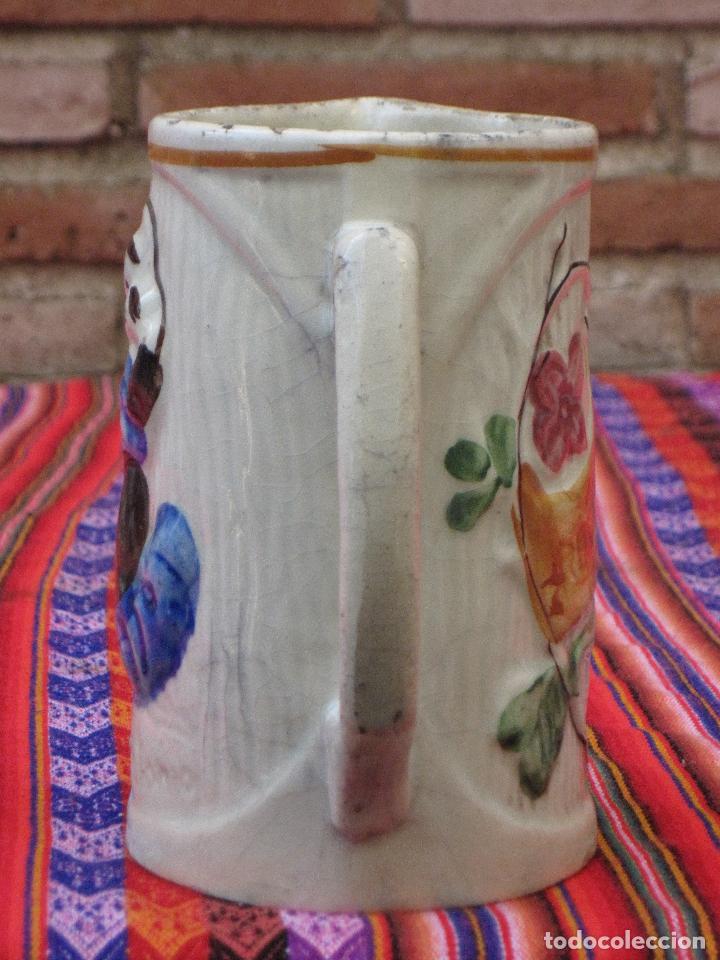 Antigüedades: JARRA ANTIGUA EN CERAMICA DE MANISES - SAN ANTONIO. - Foto 4 - 109551911