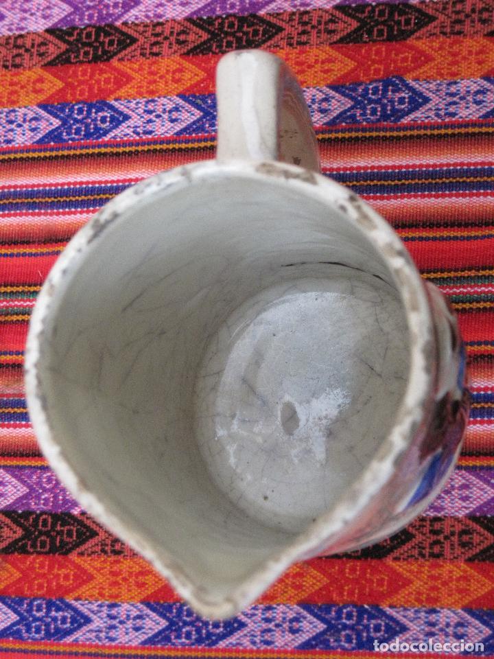Antigüedades: JARRA ANTIGUA EN CERAMICA DE MANISES - SAN ANTONIO. - Foto 5 - 109551911