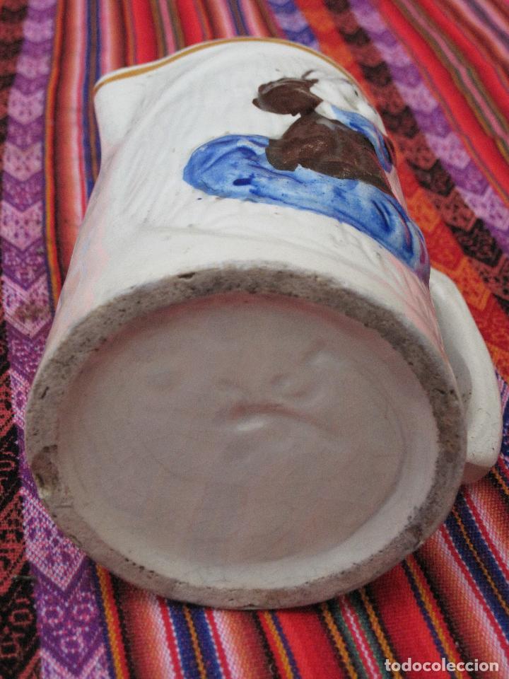 Antigüedades: JARRA ANTIGUA EN CERAMICA DE MANISES - SAN ANTONIO. - Foto 6 - 109551911