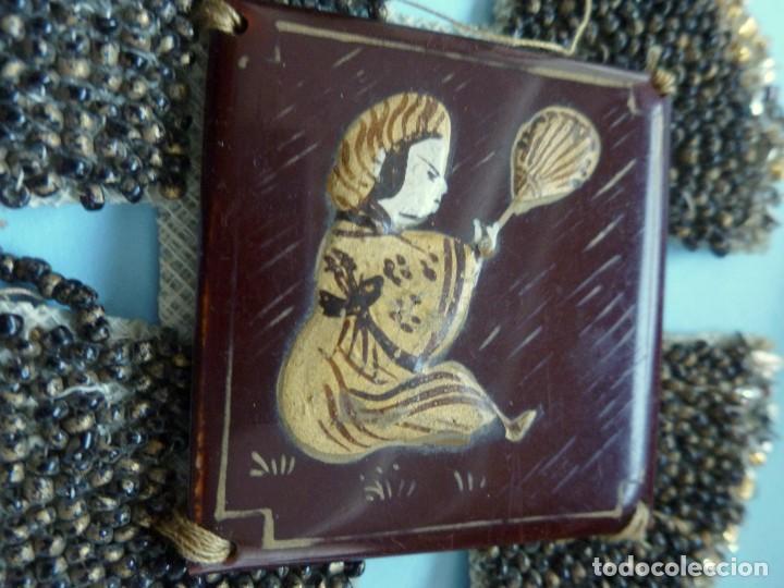 Antigüedades: ANTIGUO APLIQUE - COLLAR ART DECO PORCELANA Y CUENTAS DE CRISTAL PPIO.S.XX - Foto 3 - 109561479