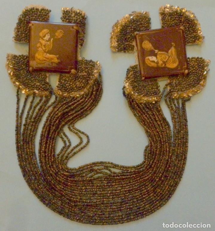 Antigüedades: ANTIGUO APLIQUE - COLLAR ART DECO PORCELANA Y CUENTAS DE CRISTAL PPIO.S.XX - Foto 6 - 109561479