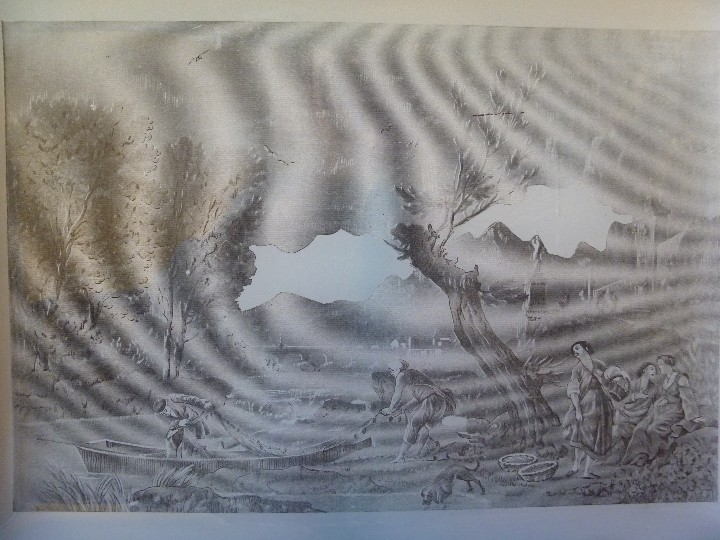 Antigüedades: ANTIGUA Y EXCLUSIVA BANDEJA CRISTAL LITOGRAFIADA ESCENA COSTUMBRISTA INGLESA - Foto 4 - 109570755