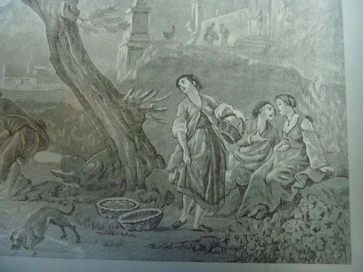 Antigüedades: ANTIGUA Y EXCLUSIVA BANDEJA CRISTAL LITOGRAFIADA ESCENA COSTUMBRISTA INGLESA - Foto 5 - 109570755