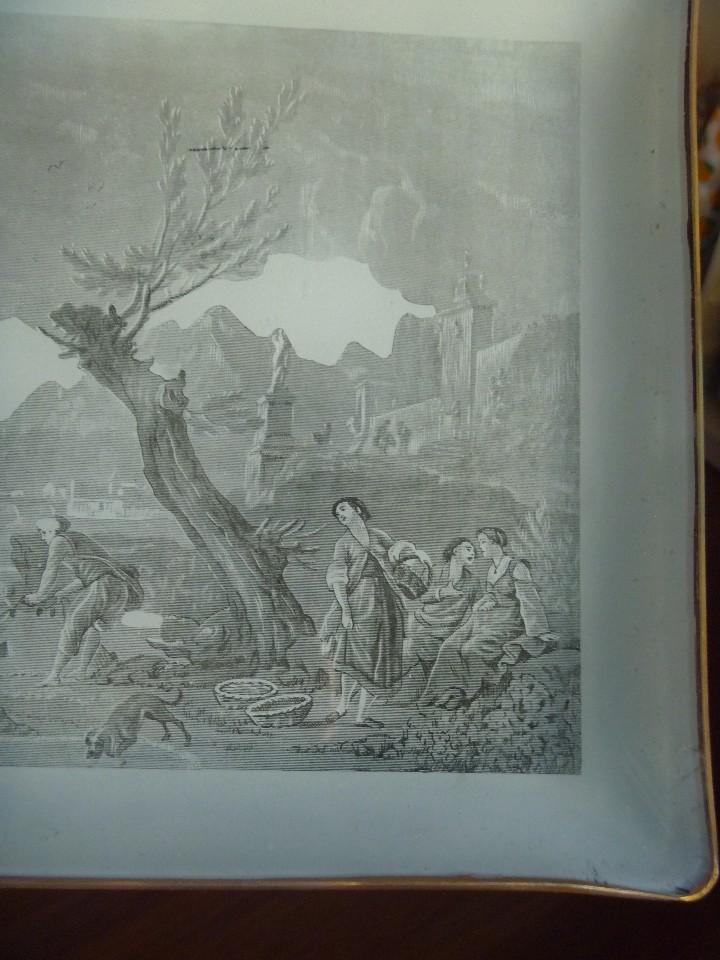 Antigüedades: ANTIGUA Y EXCLUSIVA BANDEJA CRISTAL LITOGRAFIADA ESCENA COSTUMBRISTA INGLESA - Foto 7 - 109570755