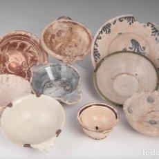 Antigüedades: COLECCIÓN DE NUEVE CUENCOS DE CERAMICA ESPAÑOLA. Lote 109726955