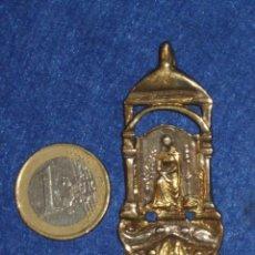 Antigüedades - ANTIGUA MEDALLA DE LA VIRGEN,EN BRONCE Y CREO QUE PLATA,VALE PARA CORDON. - 109769927