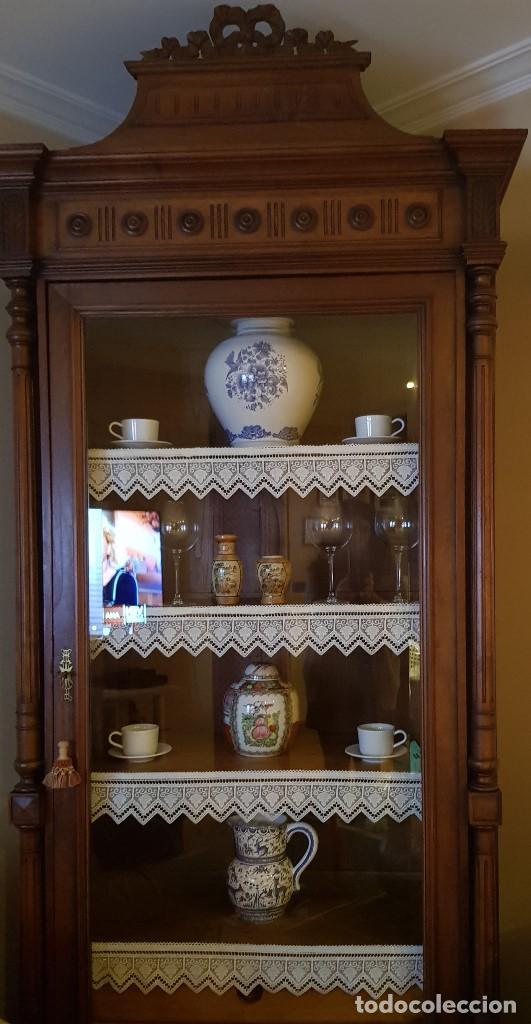 Antigüedades: Vitrina-armario estilo francés - Foto 2 - 109786715