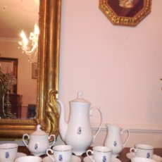 Antigüedades: JUEGO DE CAFE BAVARIA, ESCUDO DE JAÉN. Lote 109800768