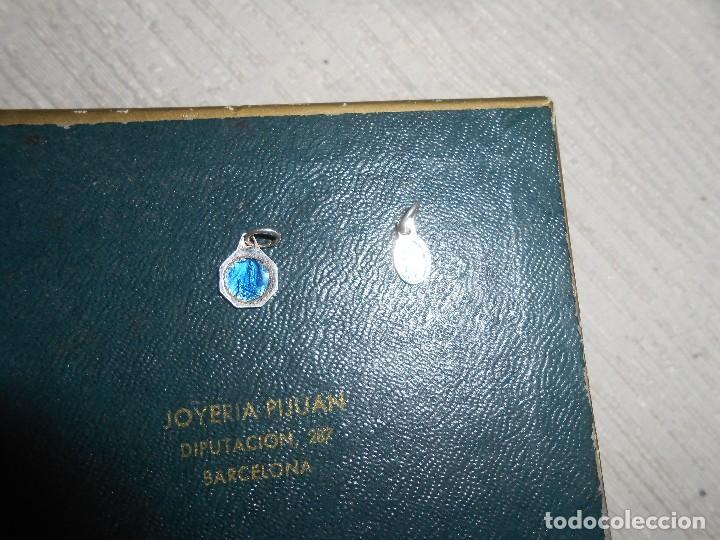 Antigüedades: Dos medallas Virgen de Lourdes - Foto 2 - 109822491