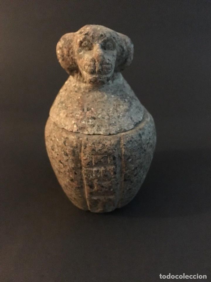 EGIPCIO, EGIPTO, VASO CANOPO DE LA DIOSA SEJMET (Antigüedades - Varios)