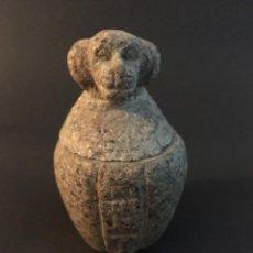 Antigüedades: EGIPCIO, EGIPTO, VASO CANOPO DE LA DIOSA SEJMET. Lote 109838267