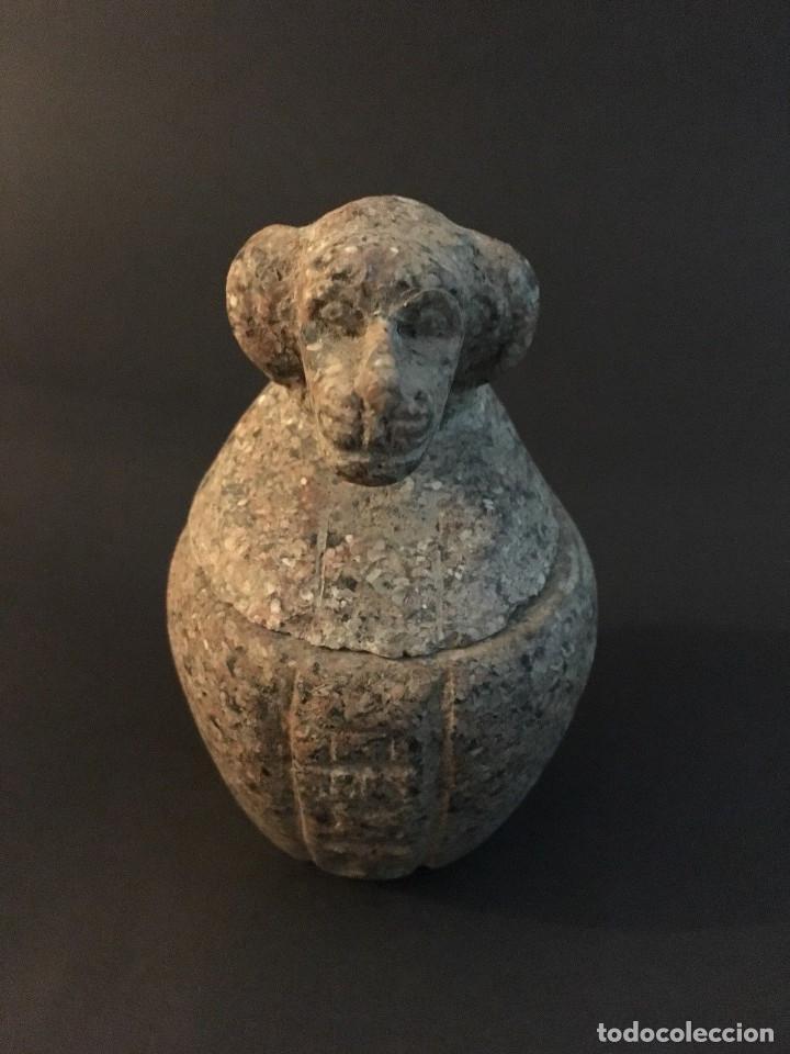 Antigüedades: Egipcio, Egipto, Vaso Canopo de la diosa Sejmet - Foto 2 - 109838267