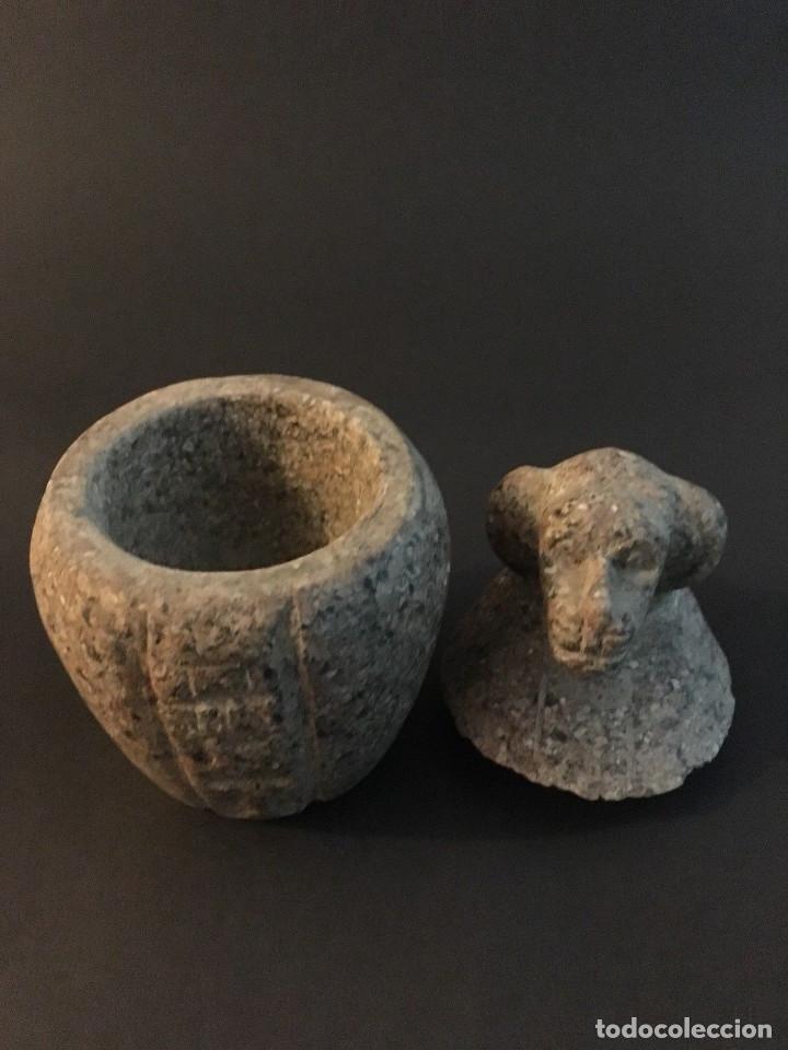 Antigüedades: Egipcio, Egipto, Vaso Canopo de la diosa Sejmet - Foto 3 - 109838267